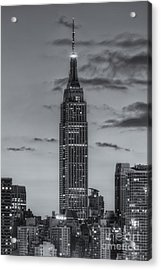 Empire State Building Morning Twilight Iv Acrylic Print