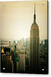 Empire State Building New York Cityscape Acrylic Print by Vivienne Gucwa