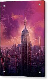 Empire State Building Sunset Acrylic Print
