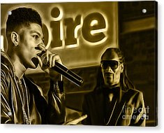 Empire's Bryshere Gray And Snoop Dog Acrylic Print by Marvin Blaine