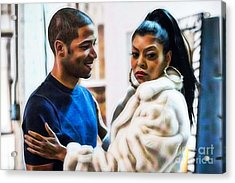 Empires Jussie Smollett As Jamal Lyon And Cookie Acrylic Print by Marvin Blaine