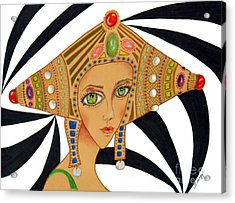 Empress Exotica -- Whimsical Exotic Woman Acrylic Print