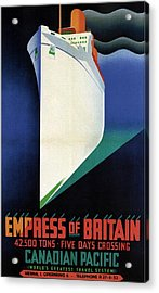 Empress Of Britain - Canadian Pacific - Steamship - Retro Travel Poster - Vintage Poster Acrylic Print