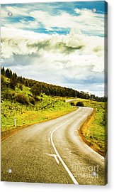 Empty Asphalt Road In Countryside Acrylic Print by Jorgo Photography - Wall Art Gallery