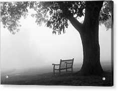 Acrylic Print featuring the photograph Empty Bench by Monte Stevens