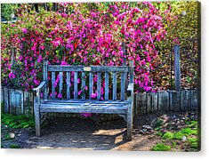 Acrylic Print featuring the photograph Empty Bench by Richard Stephen