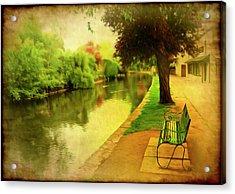 Empty Bench Acrylic Print by Svetlana Sewell