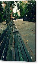 Empty Benches Acrylic Print by Karol Livote