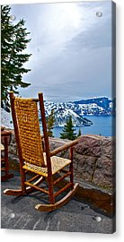 Empty Chair Acrylic Print by Dorota Nowak