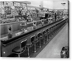Empty Diner, C.1950-60s Acrylic Print