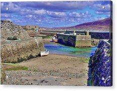 Empty Harbour Acrylic Print by Paul Mc Namara