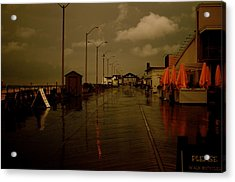 Empty In Asbury Acrylic Print by Joe  Burns