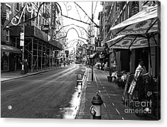 Empty Mulberry Street Mono Acrylic Print