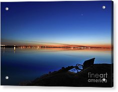 Empty Seat Watching The Moon Acrylic Print