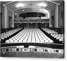 Empty Theater Interior Acrylic Print by Underwood Archives