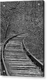 Acrylic Print featuring the photograph Empty Tracks by Juls Adams