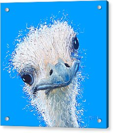 Emu Painting Acrylic Print by Jan Matson