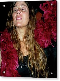 Emulating Janis Acrylic Print by Angela Murray