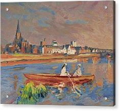 En Bateau De Renoir Sur La Meuse A Maestricht Acrylic Print