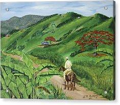 En El Campo A Caballo Acrylic Print