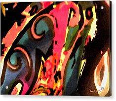 Acrylic Print featuring the mixed media En Joy by Sandi OReilly