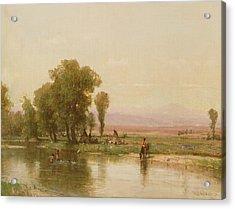 Encampment On The Platte River Acrylic Print