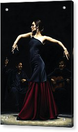 Encantado Por Flamenco Acrylic Print by Richard Young