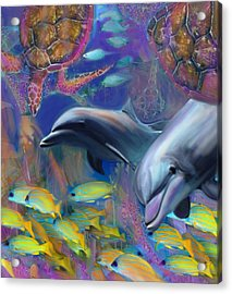Enchanted Dolphins Acrylic Print