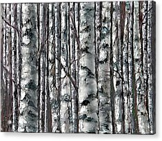 Enchanted Forest -black And White Acrylic Print