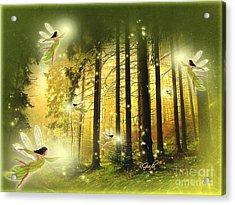 Acrylic Print featuring the digital art Enchanted Forest - Fantasy Art By Giada Rossi by Giada Rossi