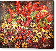 Enchanted Garden Acrylic Print by Natalie Holland