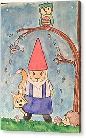 Enchanted Gnome Forest Acrylic Print by Kristi Rinier