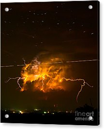 Enchanted Rock Lightning Acrylic Print