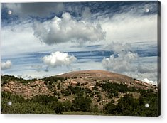 Enchanted Rock Rocks Acrylic Print by Karen Musick