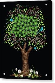 Enchanted Tree Acrylic Print by Serena King