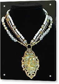 Enchanting Lady Choker Necklace Acrylic Print by Renee Hong