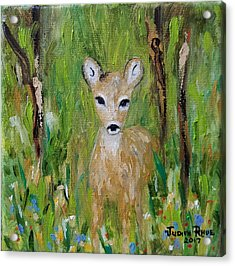 Acrylic Print featuring the painting Enchantment by Judith Rhue
