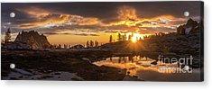 Enchantments Golden Sunrise Light Acrylic Print
