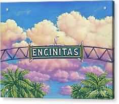 Encinitas Sunset Acrylic Print