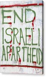End Israeli Apartheid Acrylic Print