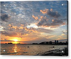 End Of A Beach Day Acrylic Print by Keiko Richter