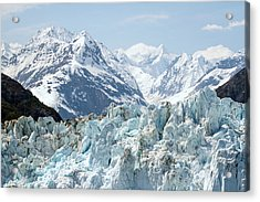 Glaciers End Of A Journey Acrylic Print by Allan Levin