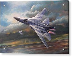 'end Of An Era' F111 Qld Final Flight Acrylic Print by Colin Parker