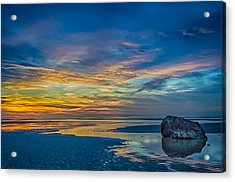 End Of Day At The Beach Acrylic Print by Barbara Hayton