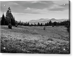 Acrylic Print featuring the photograph End Of Day In B W by Frank Wilson
