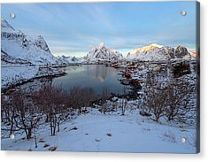 Acrylic Print featuring the photograph End Of Day, Reine, Lofoten,  by Dubi Roman