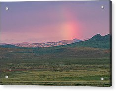 Acrylic Print featuring the photograph End Of Rainbow by Hitendra SINKAR