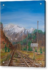 End Of Standard Gauge Acrylic Print by Christopher