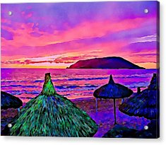 End Of The Beach Day In Mazatlan Acrylic Print