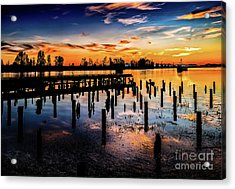 End Of The Fishing Day Acrylic Print